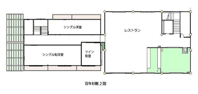 館内案内図 百年杉館2階